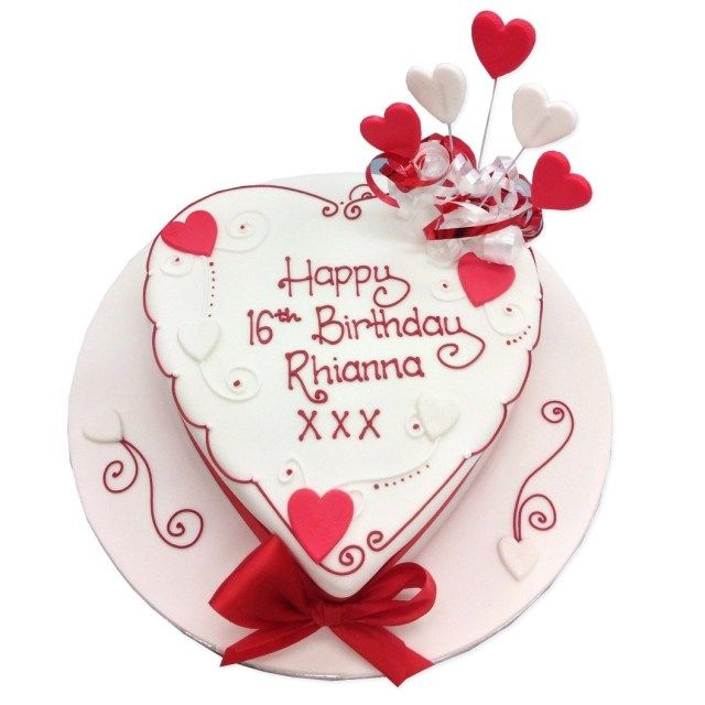 21 Pretty Photo Of Heart Birthday Cake Cakes Delivered In London