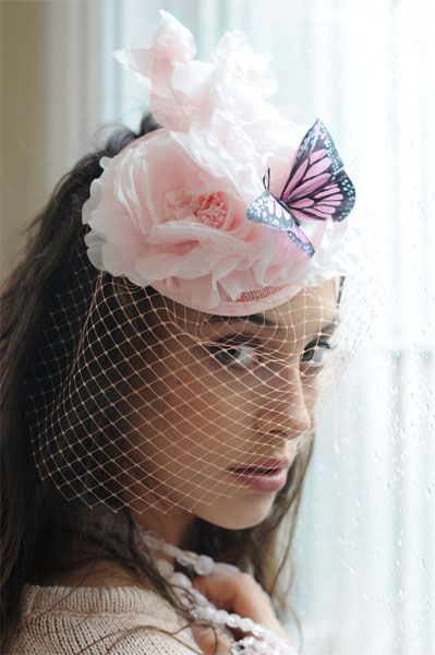 Cherubina  tocado  sombrero  boda  headpiece  hat  wedding  invitada ... 52cd14d994d