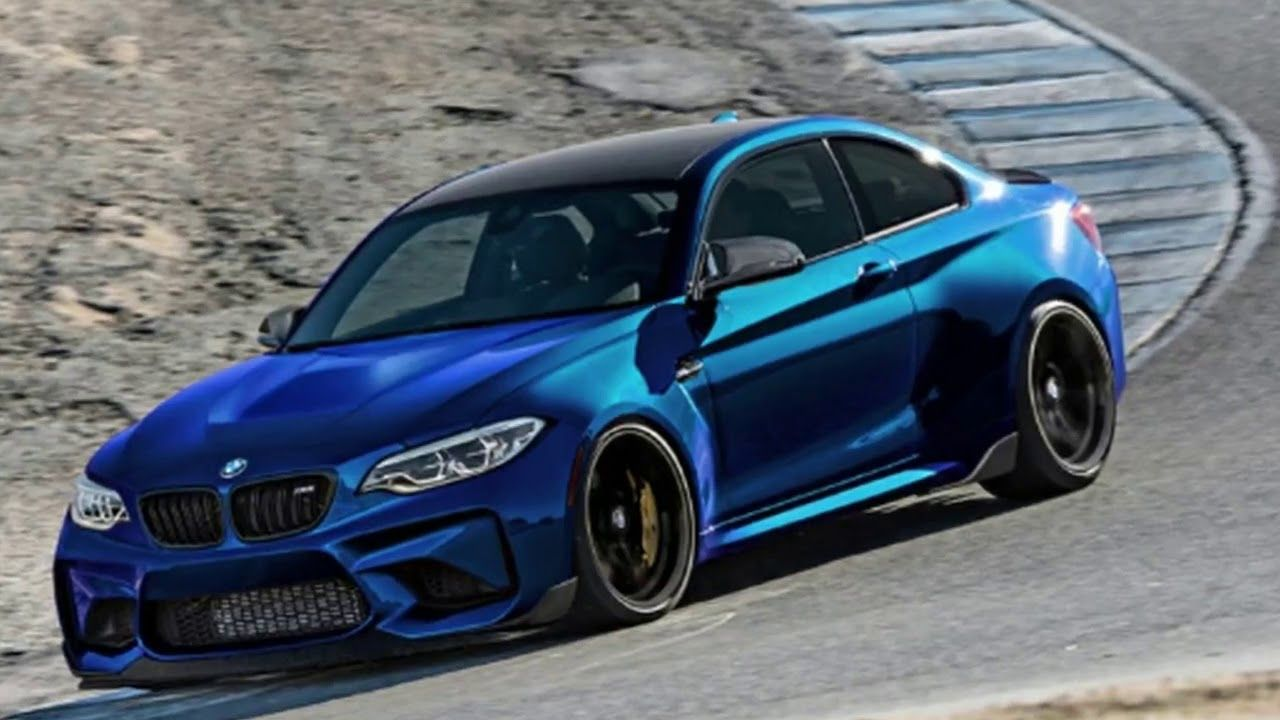 Pin Di 2019 Bmw M2 Competition Shows Part Of Its Face In Leaked Photo