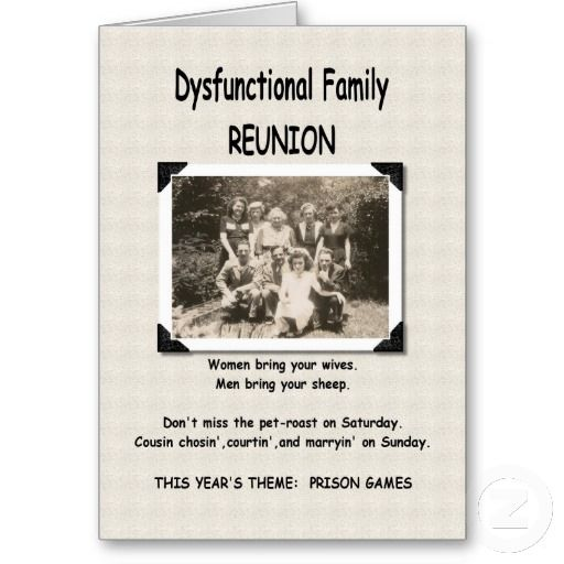 Dysfunctional Family Reunion Invitation  Family Reunion Invitation Cards