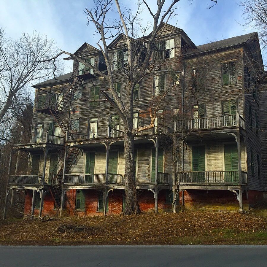 Haunted House On A Hill Bennington Vermont. Photo By Odd