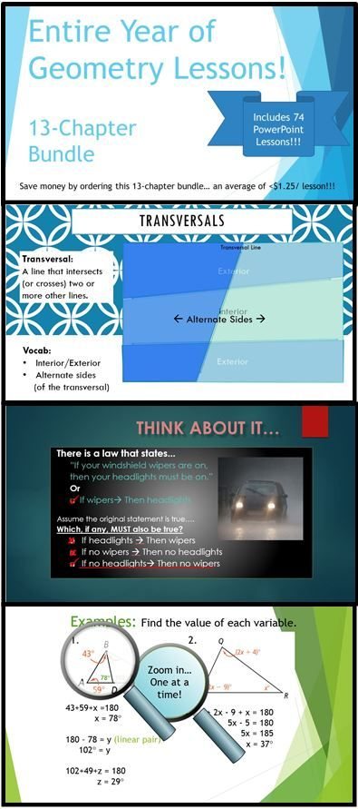 full year of geometry powerpoint lessons bundle 74 dynamic lessons