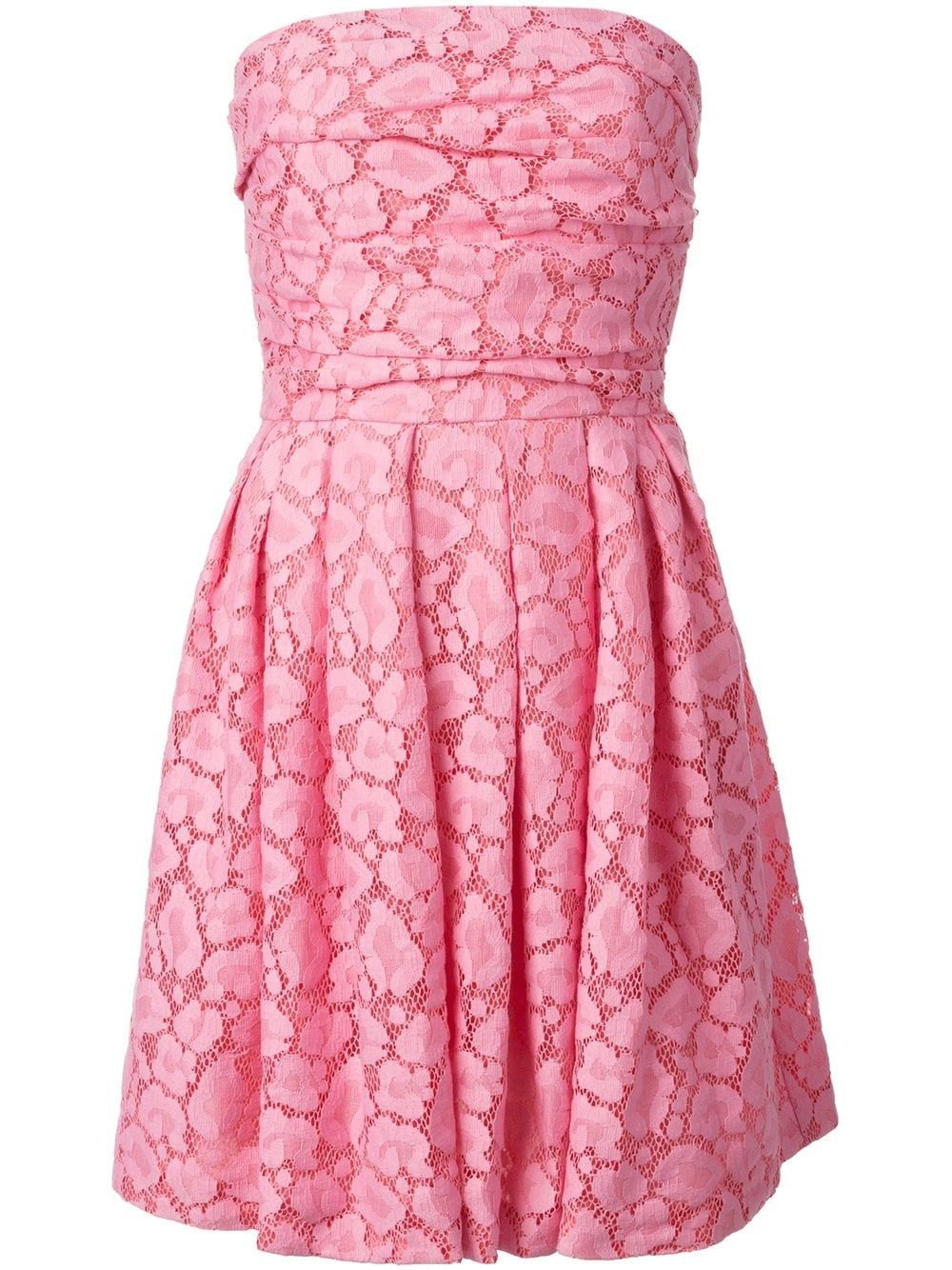 Moschino Cheap & Chic strapless lace dress - PINK #rosaspitzenkleider