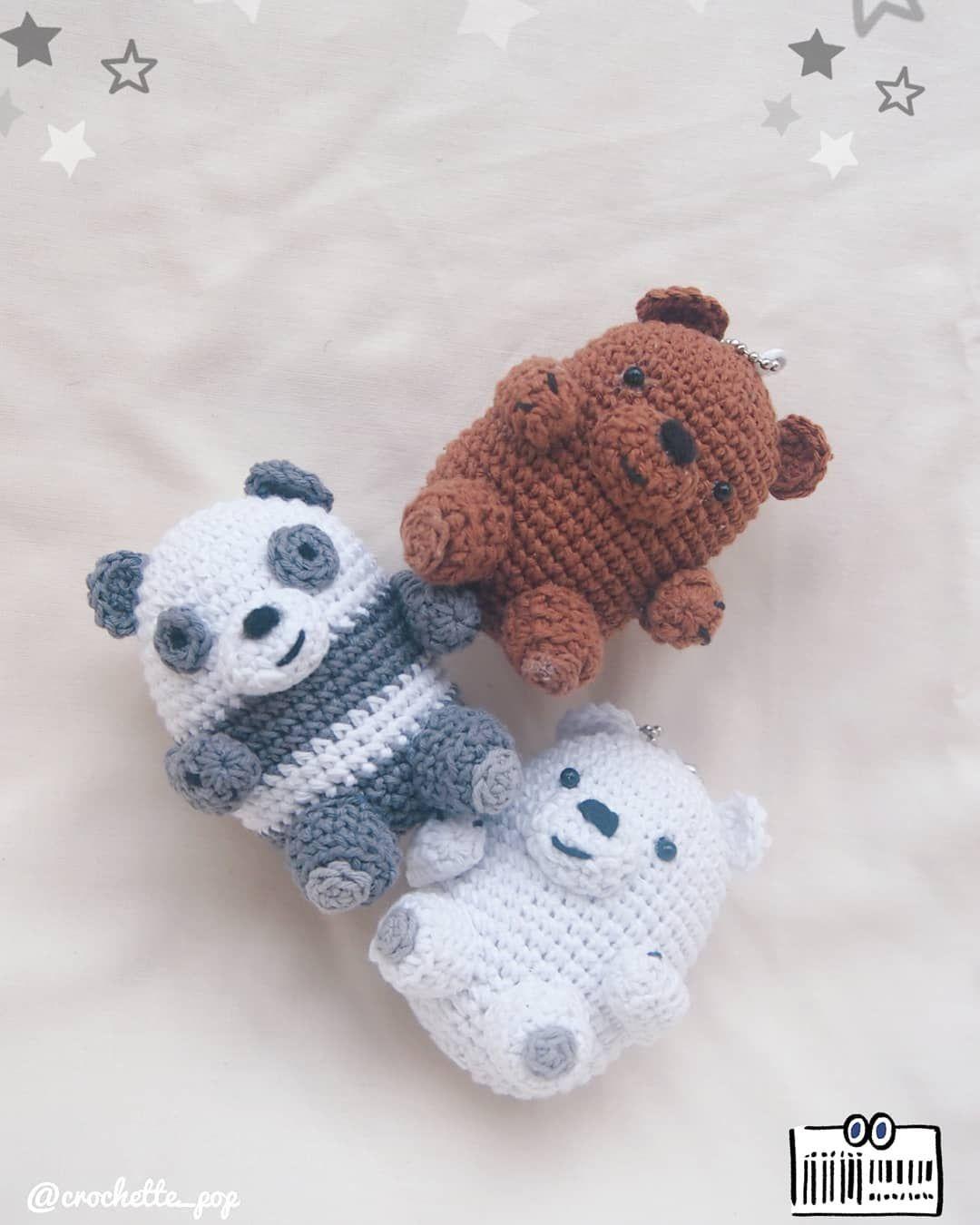 CROCHET PATTERN: We Bare Bears Inspired Bear Stack large | Etsy | 1350x1080
