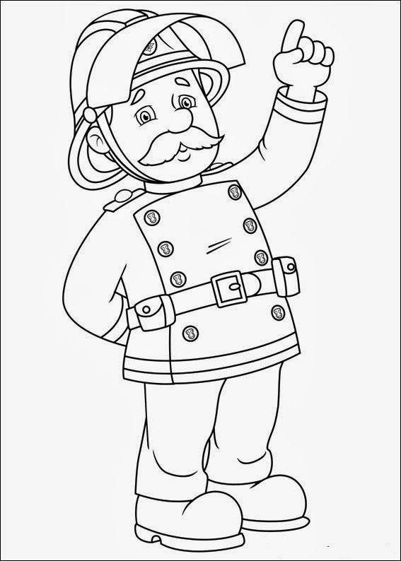 Firefighter Coloring Pages Fireman Fireman Sam Coloring Pages