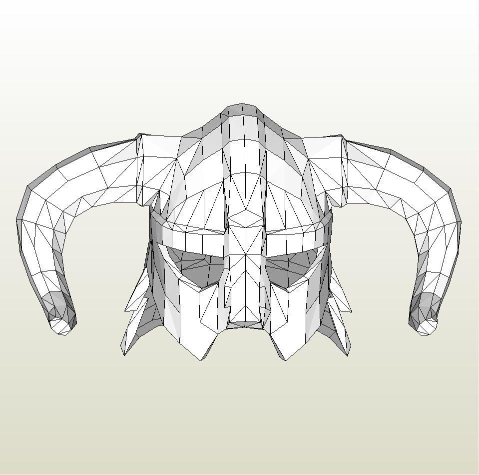 Papercraft template for Skyrim - Iron Helmet. | Cosplay | Pinterest ...
