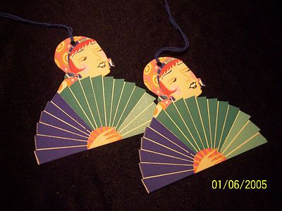 Vintage Art Deco Bridge Tallies Deco Lady with Fan Bridge Tallies | eBay
