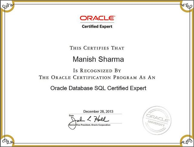 Oracle Certified Sql Expert Oracle Certified Dba Pinterest