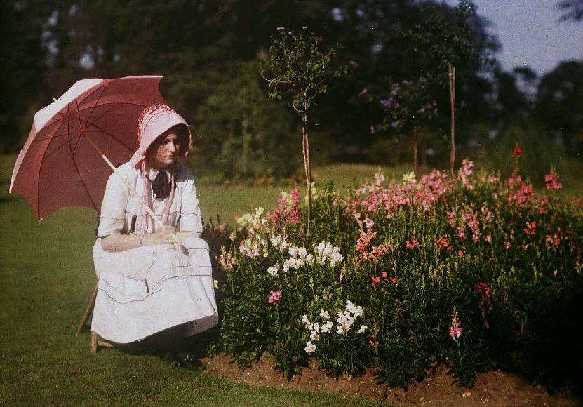Girl and flowers 1908.