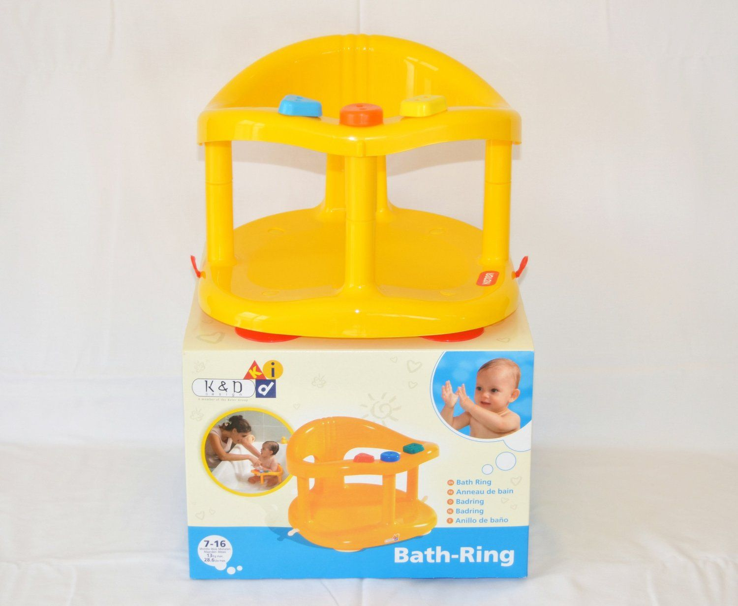 Baby Bath Tub Ring Seat New in Box By KETER - Yellow !!!: Amazon.ca ...