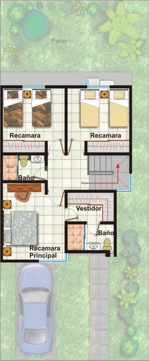 Planos de casas y plantas arquitect nicas de casas y - Casas de dos plantas ...
