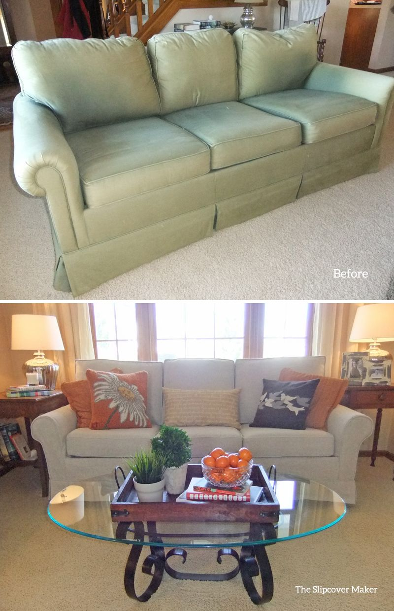 Custom Made Linen Slipcover For Faded And Outdated Sleeper Sofa. Love This  Home Furnishing Linen