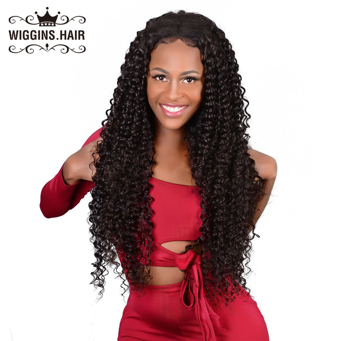 180 Density Curly Wave Lace Front Wig Unprocessed Virgin Hair The