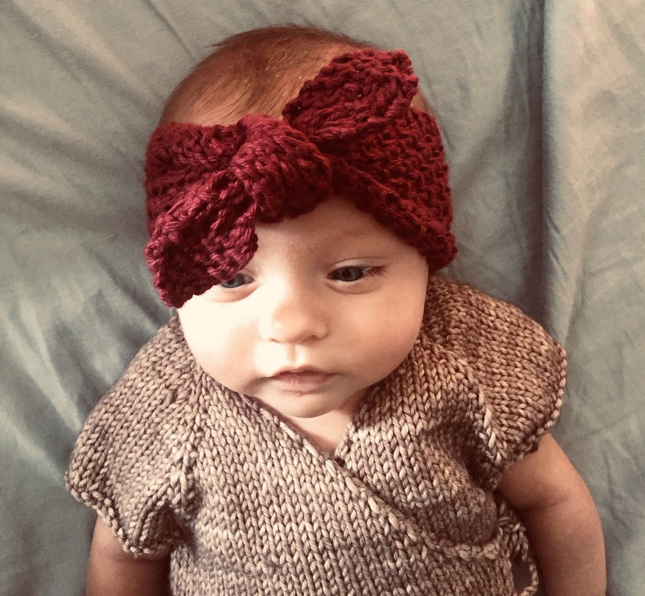 Knitted Top Knot Headband Pattern, Baby, Toddler, Child ...