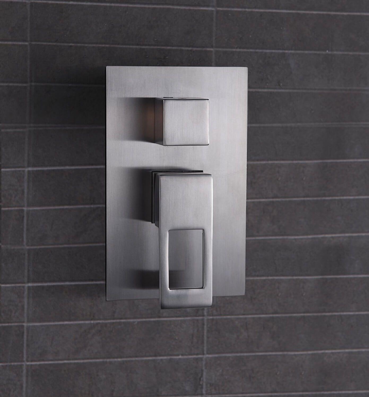 Brushed Nickel Shower Faucet Set for Bathroom Air