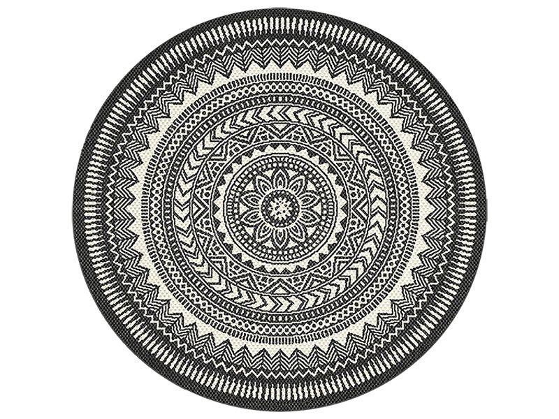 TEPPICH RUND ''DONATELLA'' aus Polypropylen, Ø 120 cm