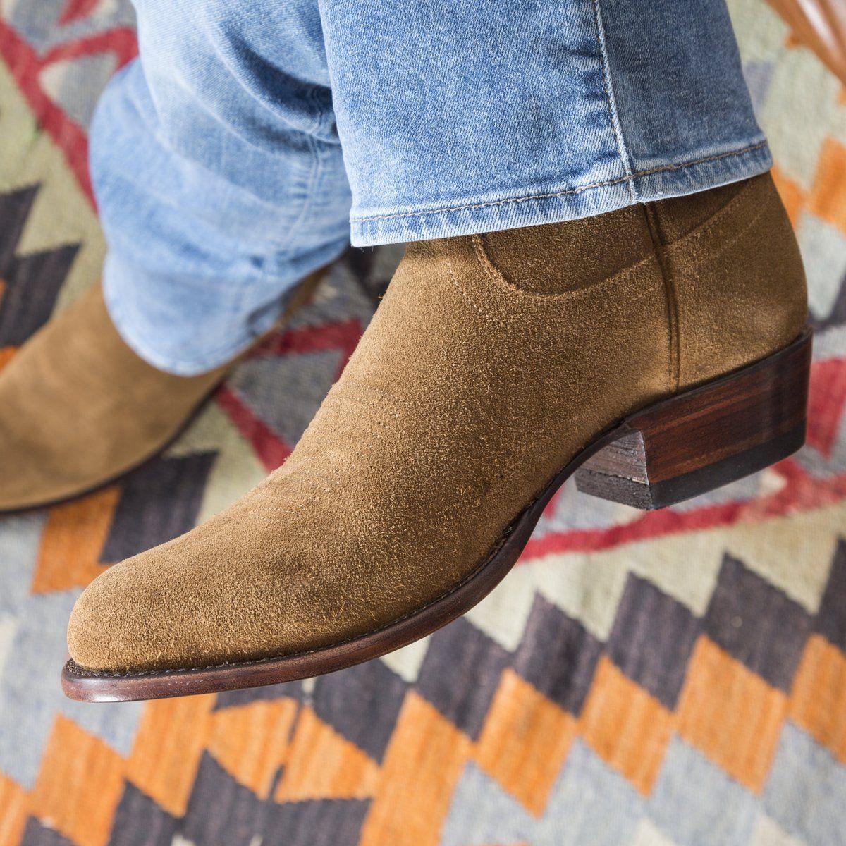 Suede cowboy boots, Mens suede boots
