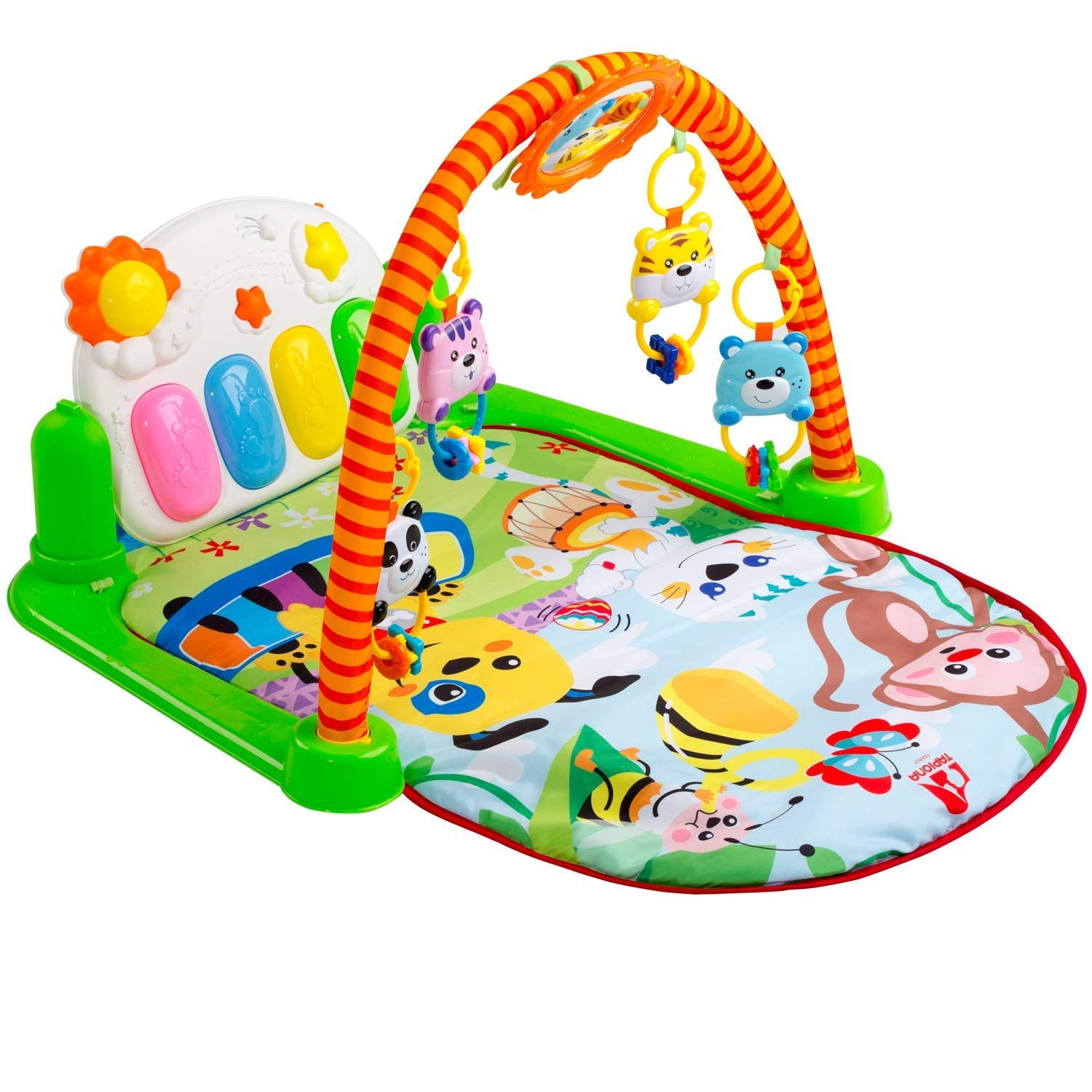 How To Play Newborn On Piano Amazon Tapiona Baby Gym Piano Kick And Play Mat
