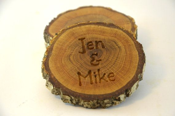These Personalized Wood Coasters Are Made Of An Old Oak