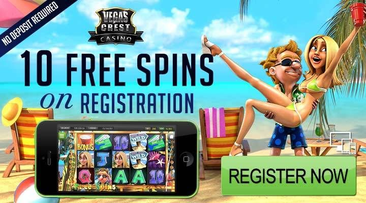 Vegas Crest Casino Get started with 10 No Deposit FREE Spins