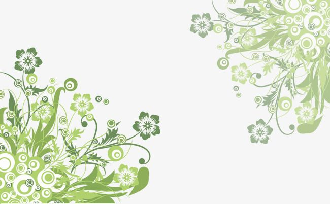 Green Flower Vine Vector Download, Green Vector, Flower