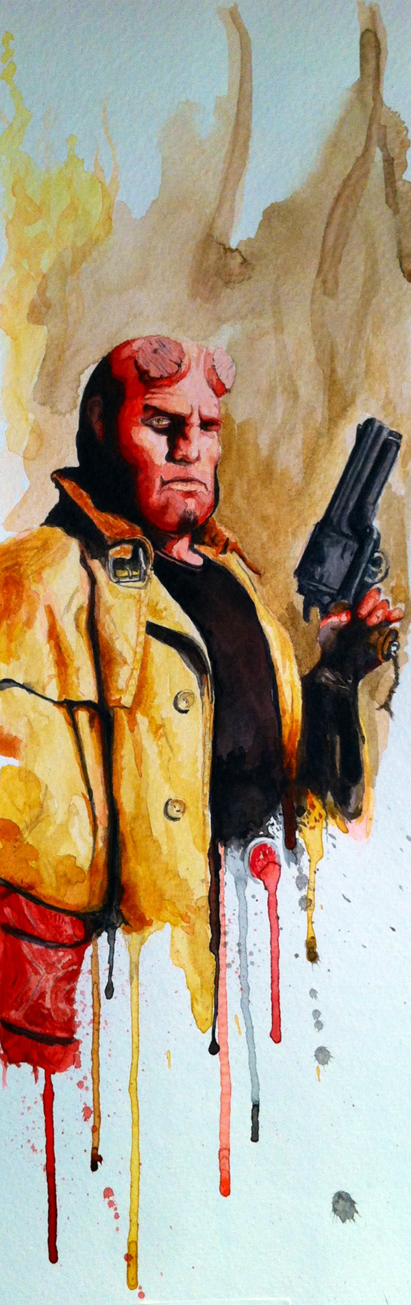 Hellboy by David Kraig, via Behance