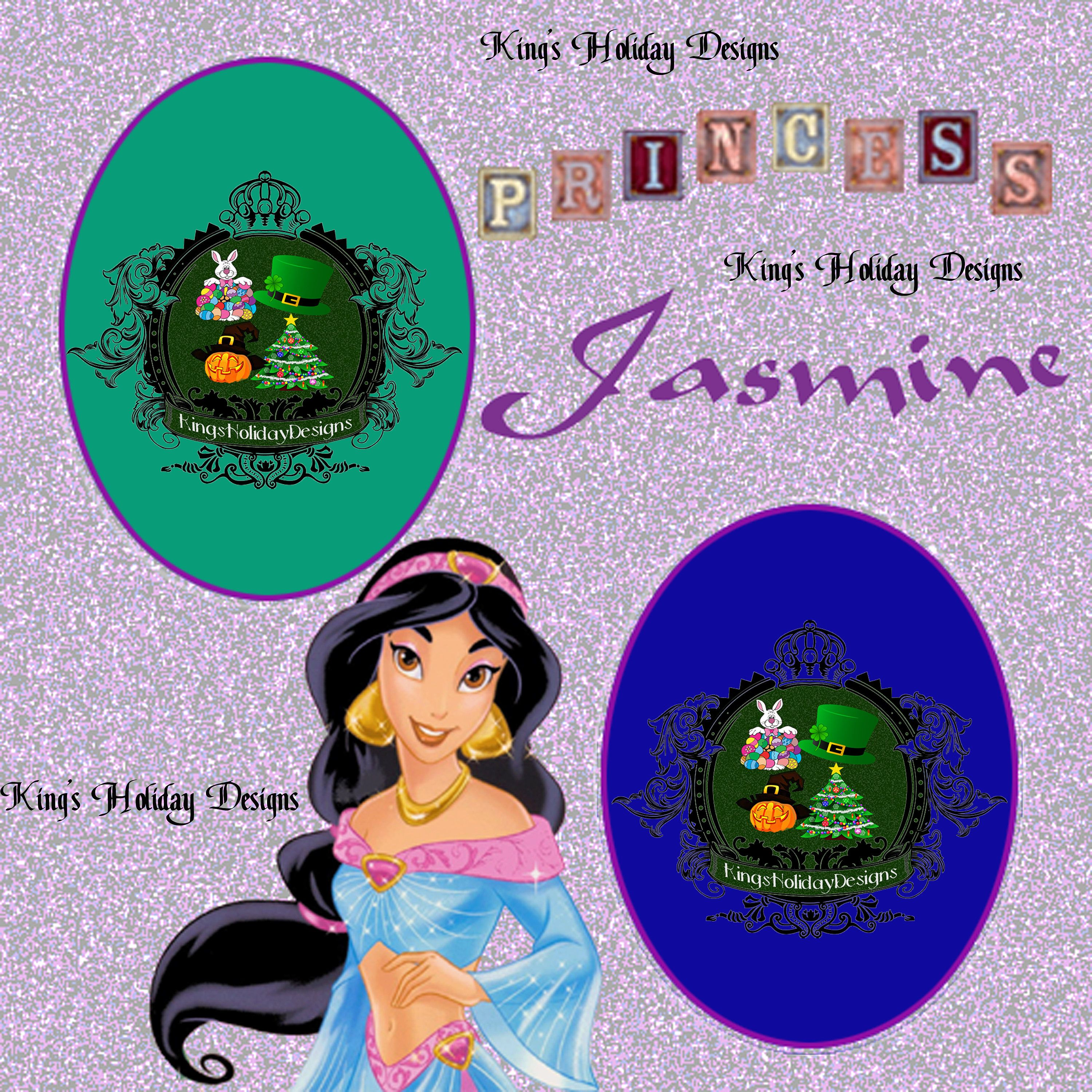 Jasmine character 8 x 8 quick page by KingsHolidayDesign on Etsy