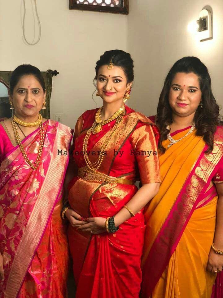 Pin By Amulya Amulya On Mom To B Indian Baby Showers Indian Sarees Wedding Saree Indian
