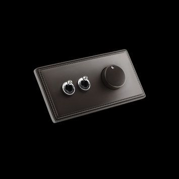 Collection 1950 by Fontini // power switches with dimmer. also in gold.