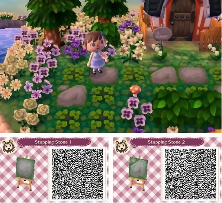Stone Path Qr Code Animal Crossing Acnl Paths Animal Crossing 3ds