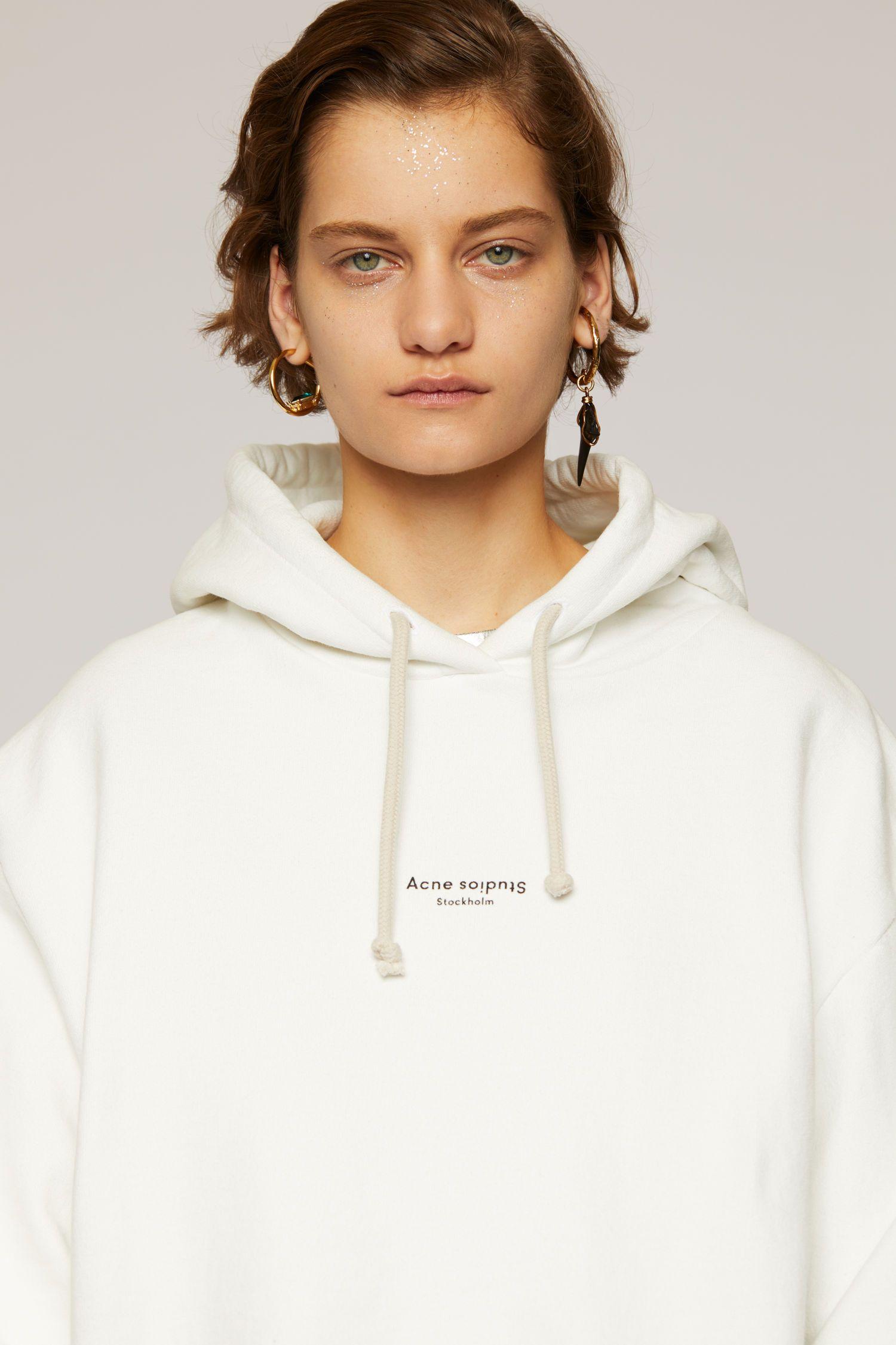 Reverse Logo Hooded Sweatshirt Optic White Hooded Sweatshirts Sweatshirts White Hooded Sweatshirt [ 2250 x 1500 Pixel ]