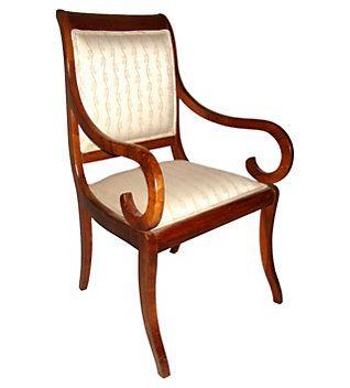 Marvelous Biedermeier Style Armchair With Rich Wood Grain. The Idea Behind The Biedermeier  Chairs (
