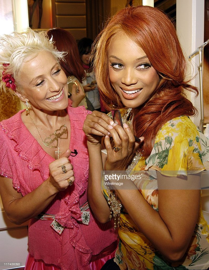 Charlie Green and Tyra Banks during Victoria's Secret