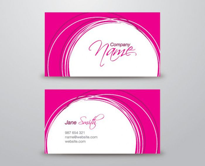 25 free pink business card templates business cards pinterest 25 free pink business card templates fbccfo Image collections