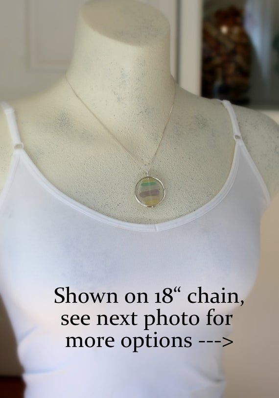 Pastel sea glass necklace cairn necklace gift for wife sea image 5