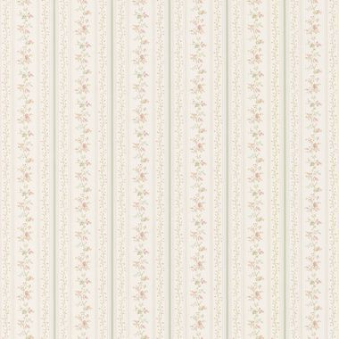 43666332 Marta Green Dainty Floral Stripe wallpaper