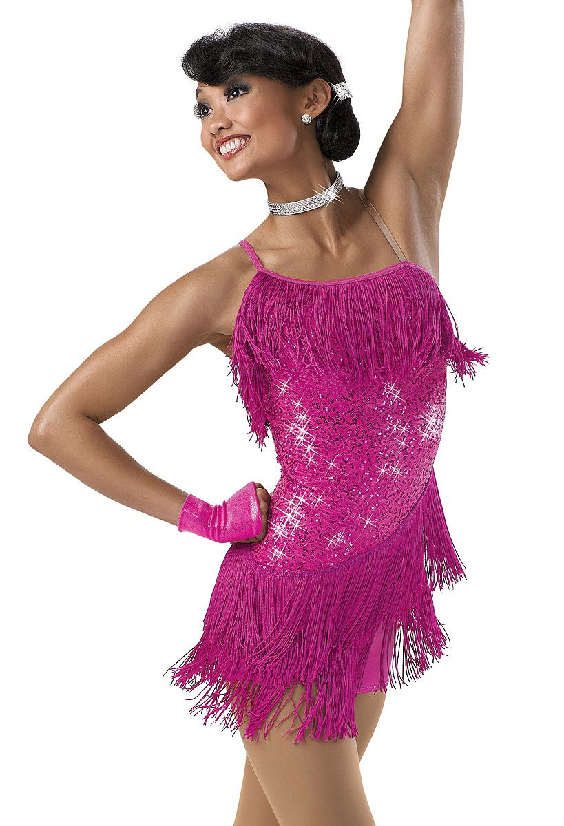 3b836fb4591 One-Shoulder Sequin Fringe Dress  Weissman Costume