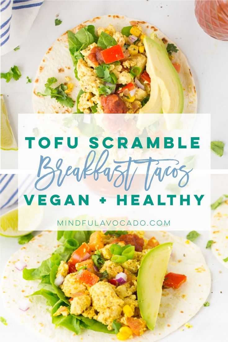 Tofu scramble is so easy to make and the PERFECT vegan substitute for eggs. Make easy breakfast tacos with this simple and healthy recipe! scramble is so easy to make and the PERFECT vegan substitute for eggs. Make easy breakfast tacos with this simple and healthy recipe! | mindfulavocado