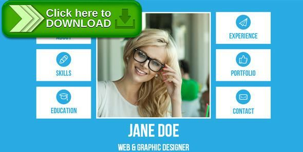 Free nulled Resume - Single Page Adobe Muse Template download - online resume download