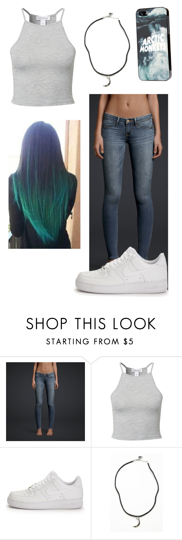 """""""Untitled #26"""" by anaiese ❤ liked on Polyvore featuring Hollister Co., Estradeur, NIKE and Brandy Melville"""
