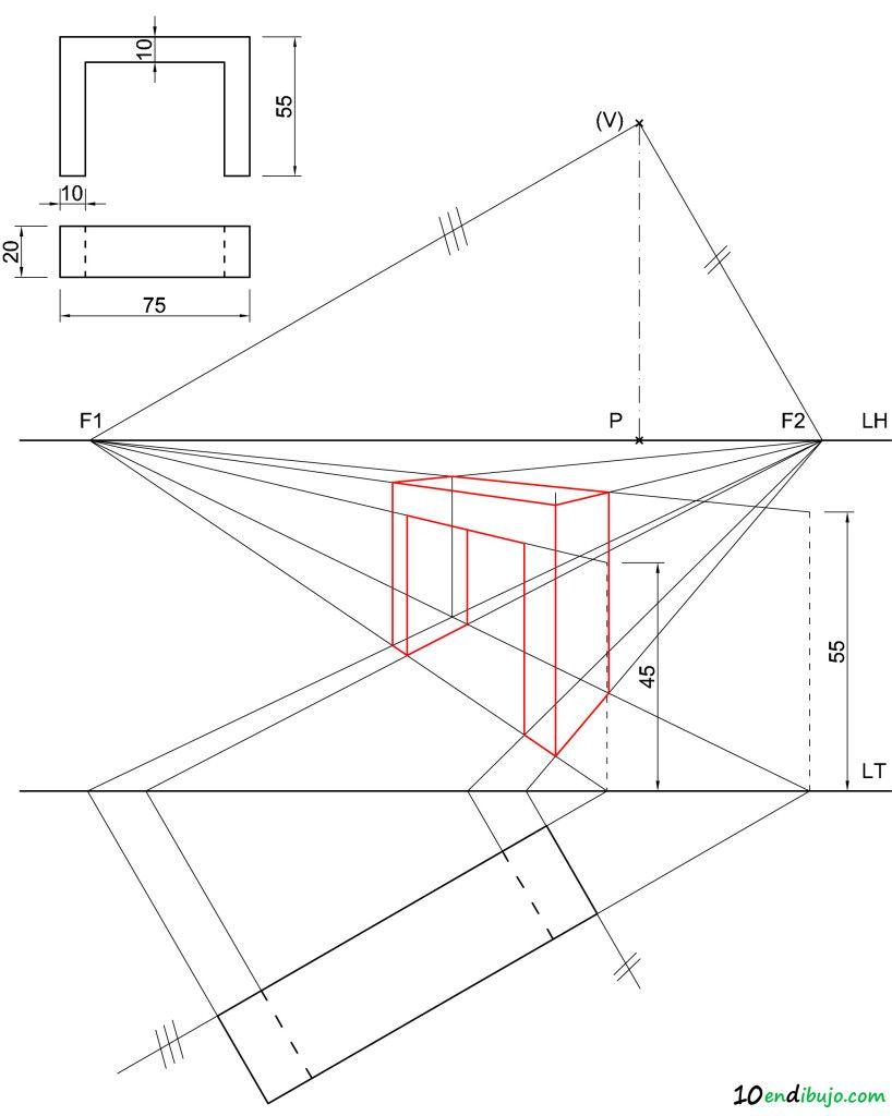 Sistema Conico Tecnicas De Dibujo Clases De Dibujo En Perspectiva Clases De Dibujo