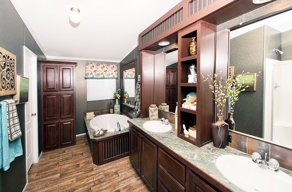 The Yukon Manufactured Home Sf Bedrooms Baths - Manufactured home bathroom vanity