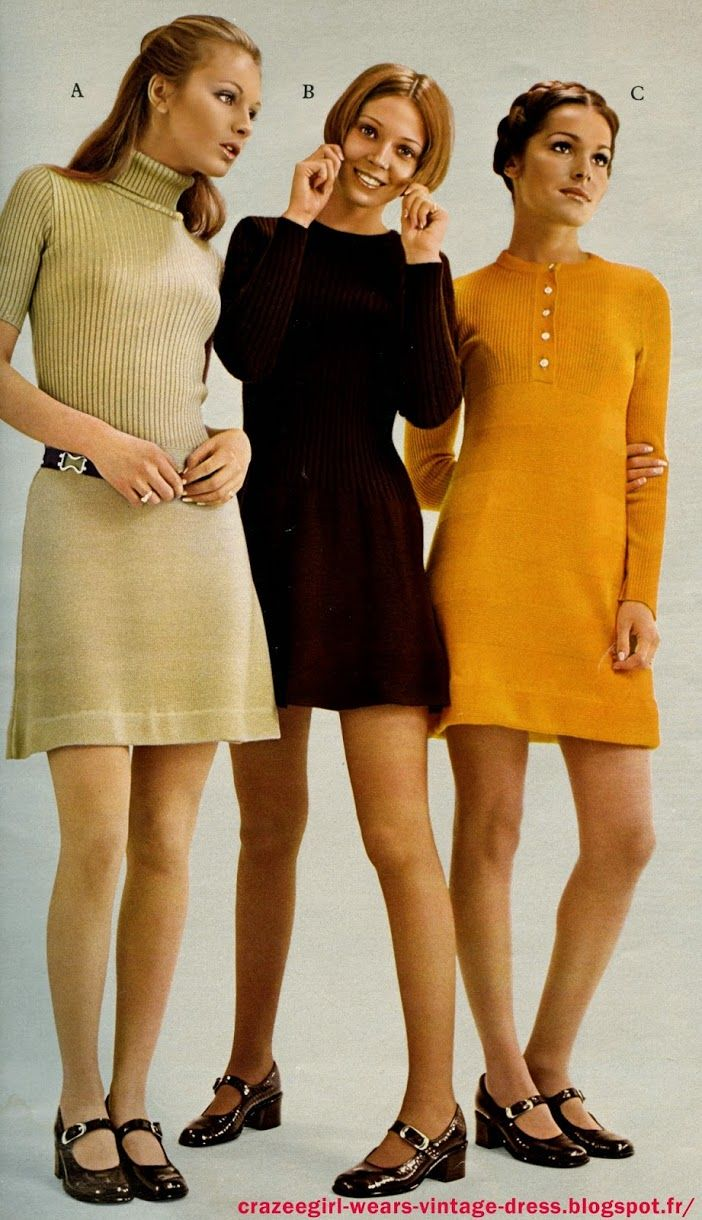 f6183ffbaee 1971 mini dress. They are all really cute. Also notice the shoes ...