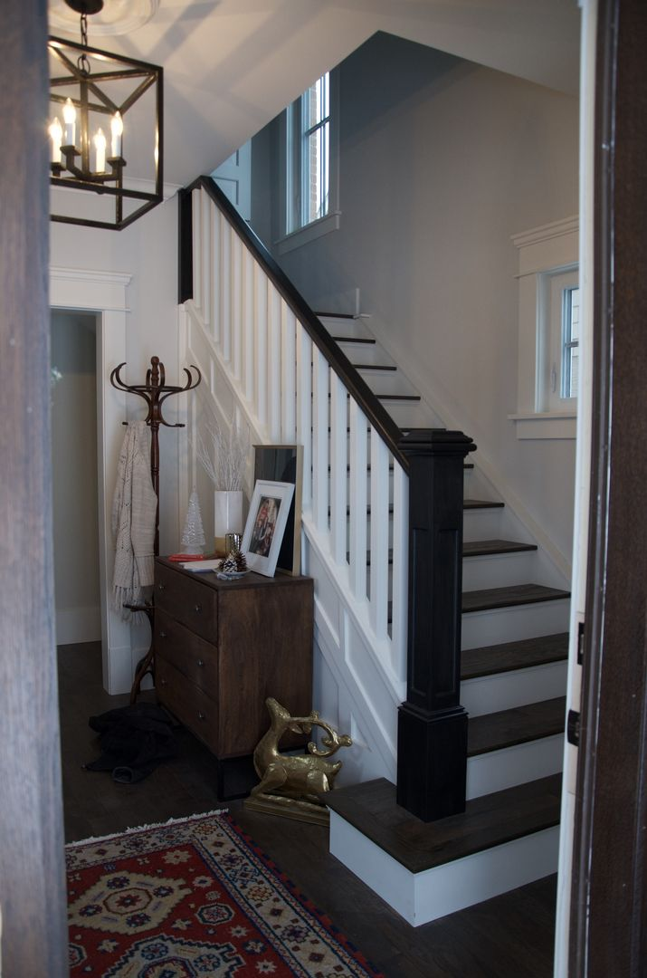 100+ Year Old Home Renovation, Two Tone Railing