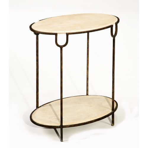 "LaurelHouse Designs Inspirations End Table Overall: 26.5"" H x 22"" W x 14.25"" D  $429"