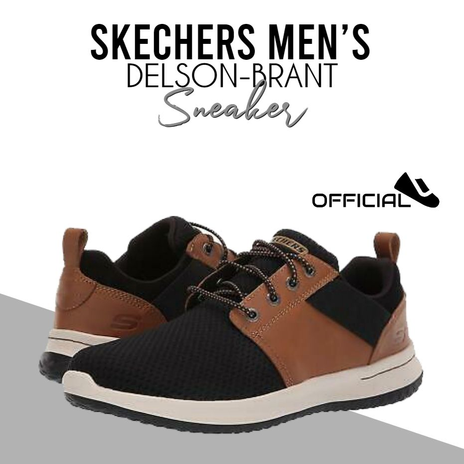 Skechers Men's Delson-Brant Sneaker in