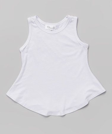 Love this White Tank - Toddler & Girls by Nouvelle on #zulily! #zulilyfinds