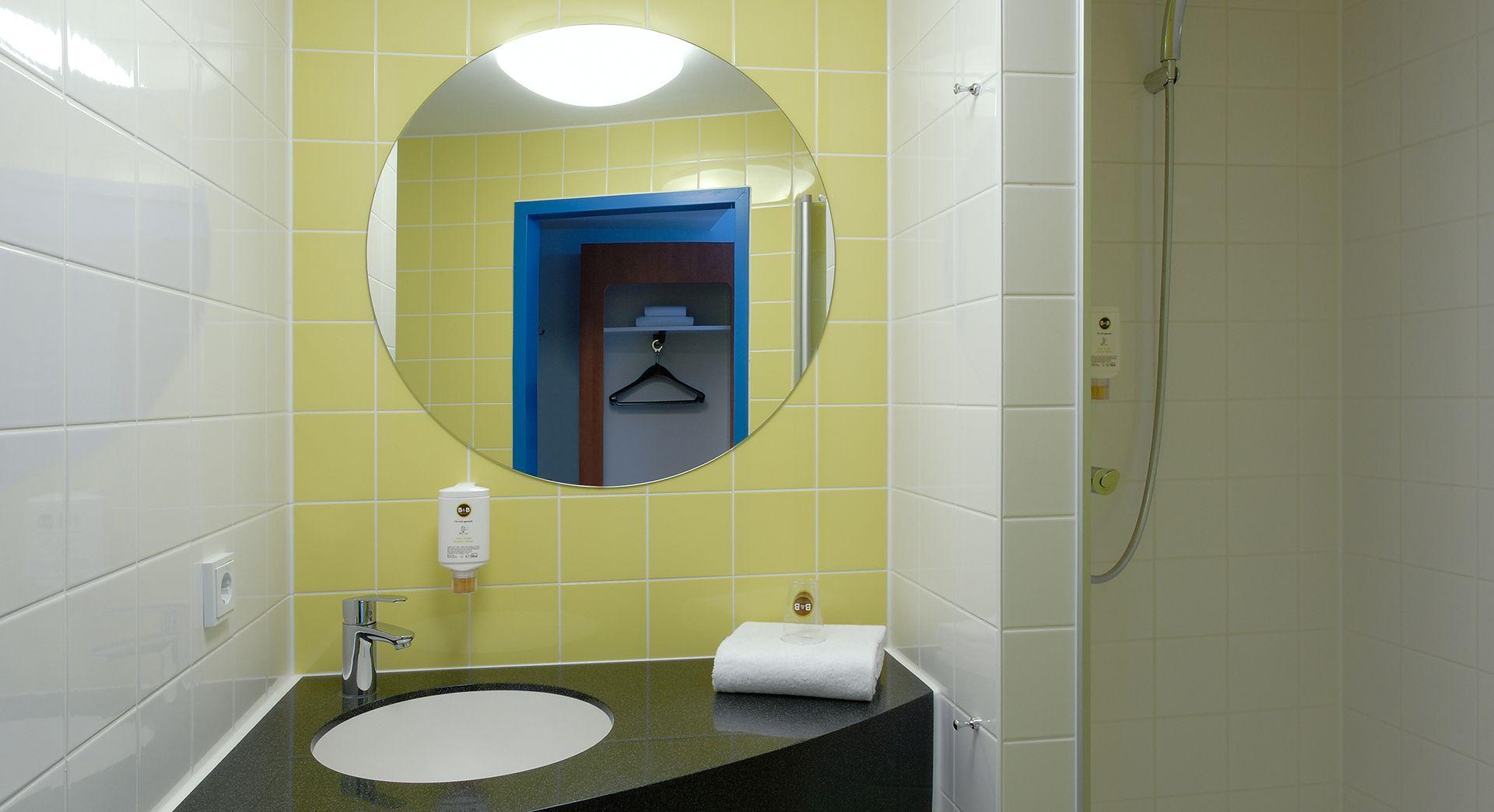 Tv Badezimmer ~ Badezimmer im b b hotel düsseldorf hbf düsseldorf