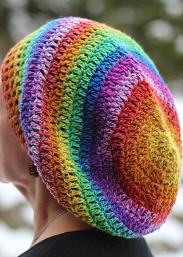 RASTA Slouchy Style CROCHET HAT Beret Style by 4PennyGirl, $30.00 ...
