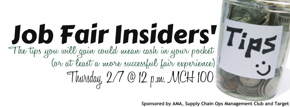 Job Fair Insiders's Tips Event!